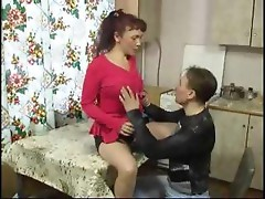 Mature mother fucked by her boy