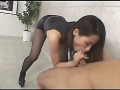 Pantyhose Heels Show and Censored Fuck