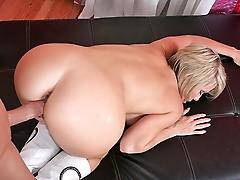 Mature mom getting slammed hard by big cock