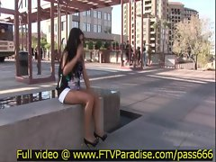 Alexa Loren tender amazing brunette babe near a fountain