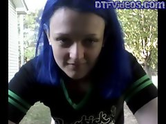 DTFVideos.com Teen Porn Hot Emo Teen Outside Yard Masturbation From MyFreeCams