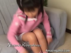 Cute asian schoolgirl masturbating video