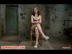 Hogtied Slave Sarah Shevon BDSM in Bondage