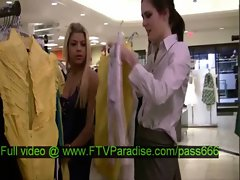 Isobel tender amazing brunette babe in a clothes shop