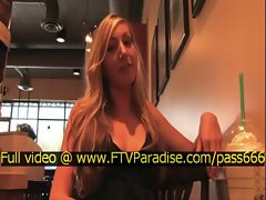 Vanessa tender amazing blonde babe in a restaurant