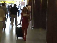 Blondsweety Stewardess In Airport Restroom
