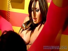 Lesbian Sex in a Phonebooth with Jayden Jaymes and Annie Cruz