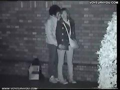 Schoolgirl couples fucking night outdoor