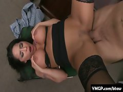 Horny Big Tit Babes Banged By Their Bosses At Work 18