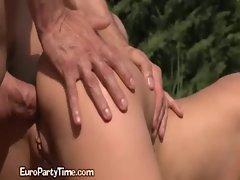 A Wild Outdoor European Sex Trip