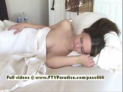 Kara sensual redhead babe sleeps and wakes