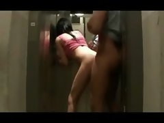 Super hot trap sucks and fucks in the elevator
