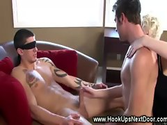 Horny guy gets tricked into getting his dick sucked by a guy