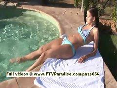 Lenka Ingenious amazing naked redhead teen by the pool