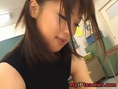 Bunko Kanazawa Naughty real asian school teacher