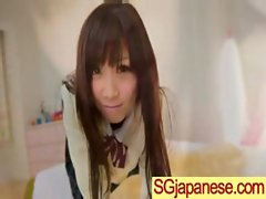 Asian In Schoolgirl Uniform Get Hard Nailed movie-10