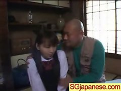 Asian In Schoolgirl Uniform Get Hard Nailed movie-08