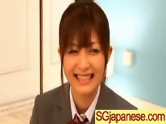 Asian In Schoolgirl Uniform Get Hard Nailed movie-20
