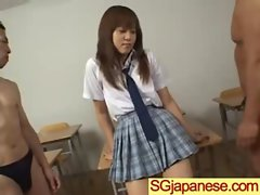 Asian In Schoolgirl Uniform Get Hard Nailed movie-16