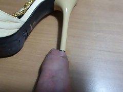 Heel under foreskin (sexy Comex sandals)