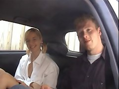 Car sex with blonde Dutch girl Katya