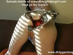 Dirtygardengirl monster speculum deep in ass huge hole