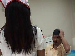 nurse angela facesitting small skinny dude
