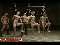 4 Gay Slave Auction in BDSM Live Shoot