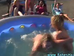 Naked teens wrestling