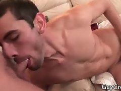 Dude sleeps on the sofa and gets fuck part5