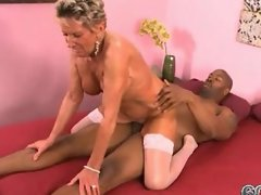 Hot 75-Year-Old GILF with Big Black Cock