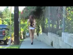 Jessica Steele - Flashing Babe, Bare Assed Naked on the streets o