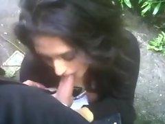 Indian Woman Sucks Cock Outdoor