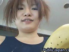 Miku Tanaka Hot Asian doll likes public part3