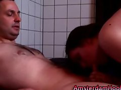 Cute amsterdam whore sucks dick
