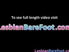 Horny Lesbians Licking and toes fucking part3