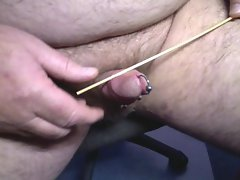 Whipping cock with kebab stick