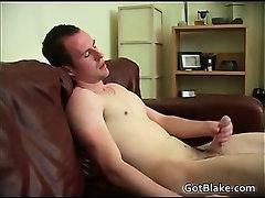 Max masturbating his fine cock
