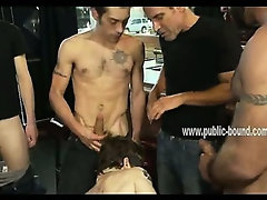 Young gay boy forced to suck cocks in rough blowjobs before getting stucked with toys and cocks