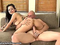 A Young Latina Slut Swallowing A Large Dick