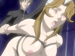 Bondage hentai nun gets her ass hammered by the high priest