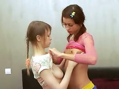 Russian lesbians playing with bodies