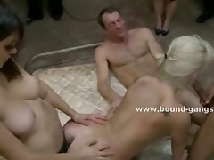 Famous pornstar meets her real first gangbang in violent and pure raw sex with ass violent drills