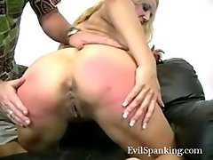Amateur spanking his blonde nasty wife
