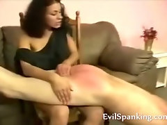 Angry MILF spanking lover