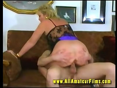 Horny GILF fucked on video