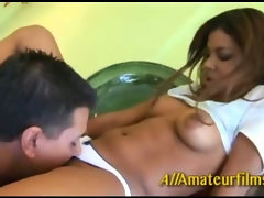 Amateur latina fingering herself when her friend joins in