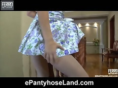 Bella in naughty pantyhose video