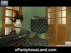 Jessica in pantyhose video