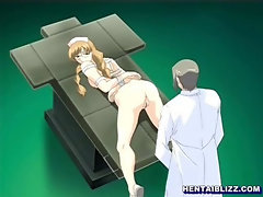 Bondage hentai nurse doggystyle assfucked by doctor